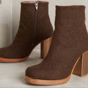 Anthropologie Cubanas Brown Boots